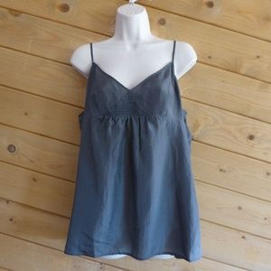 Eileen Fisher Lightweight 100% Silk A-line Cami L